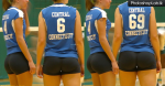 A couple of sexy volleyball players